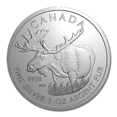 Canadian Silver 1 oz Moose 2012