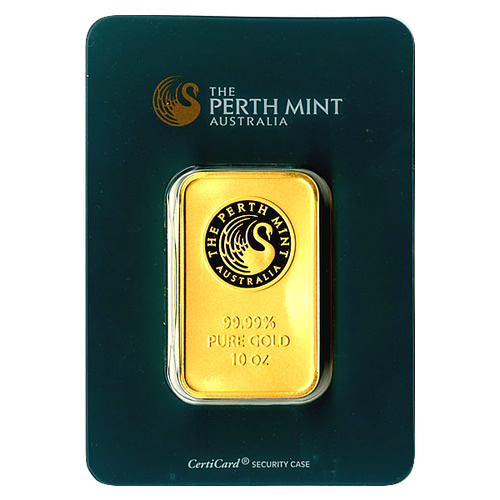 Perth Mint Ten Ounce Gold Bar Golden Eagle Coins