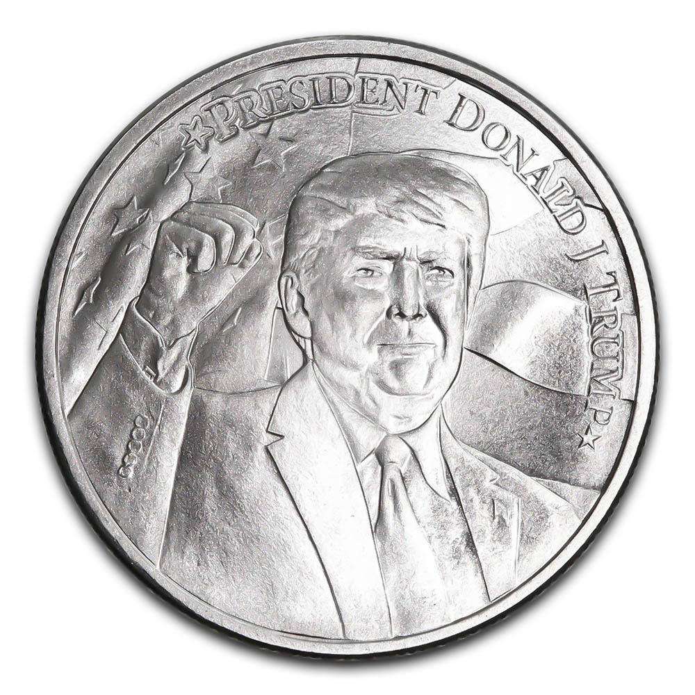 2020 Donald Trump Silver Round 1 Oz Golden Eagle Coins