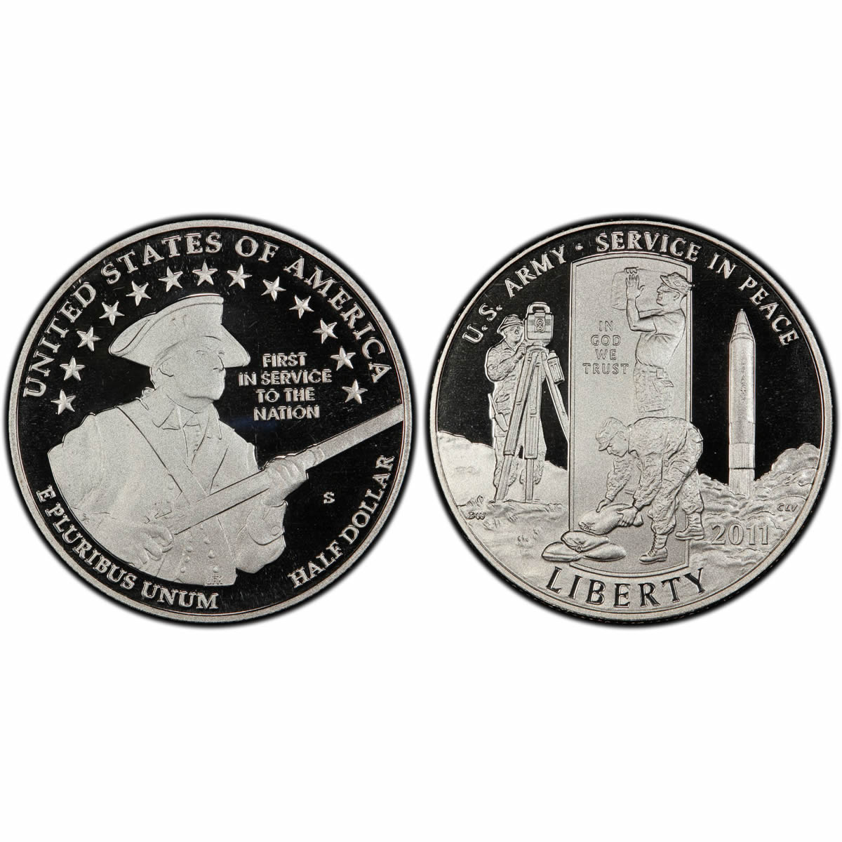 Commemorative Half Dollar Proof  2011-S Army