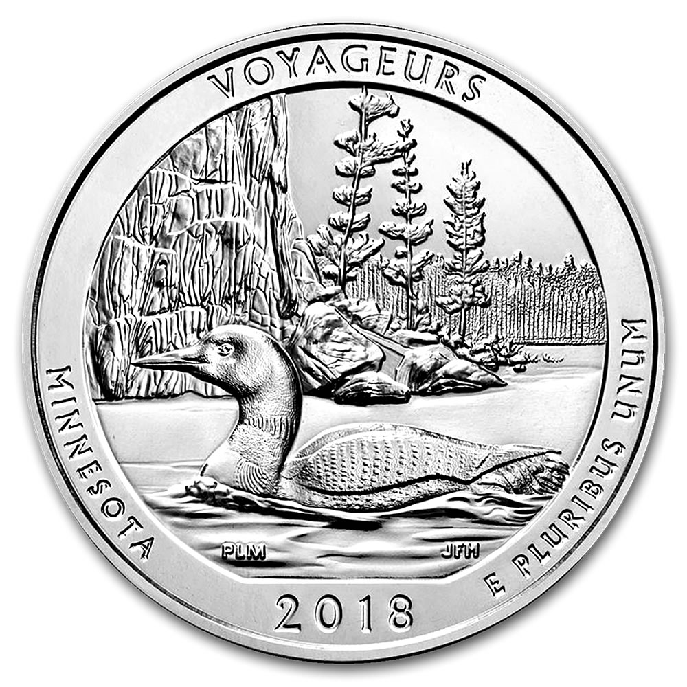 2018 5 oz Silver Voyageurs National Park, MN ATB
