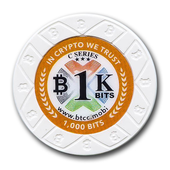 Bitcoin Poker Chip BTCC Mint 1k Bits (0.001 BTC)