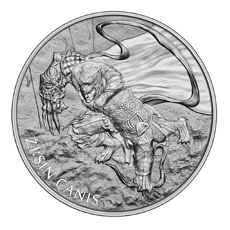 2018 South Korea 1 oz Silver ZI:SIN Canis