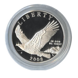 US Commemorative Dollar Proof 2008  Bald Eagle