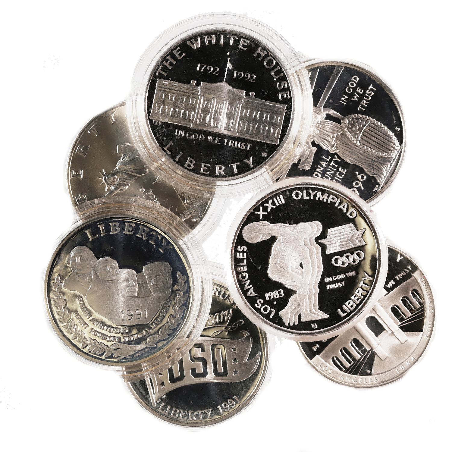US Silver Commemorative Dollars BU & PF Our Choice SALE!!!