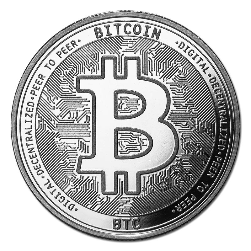 Bitcoin Silver Coin Btc Bullion Round Golden Eagle Coins