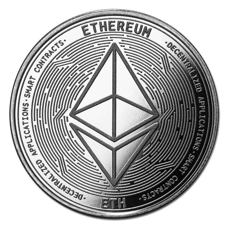Ethereum Silver Coin Eth Bullion Round Golden Eagle Coins