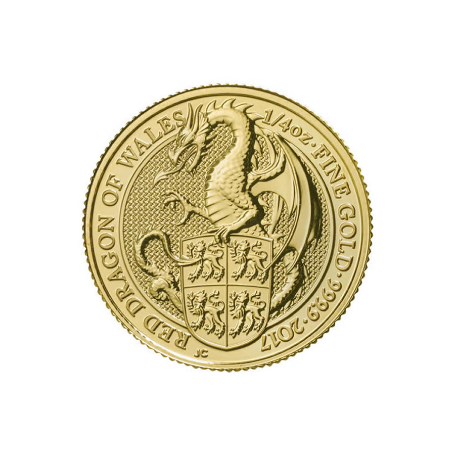 The Queen's Beasts 1/4 oz. Gold Bullion 2017 Dragon