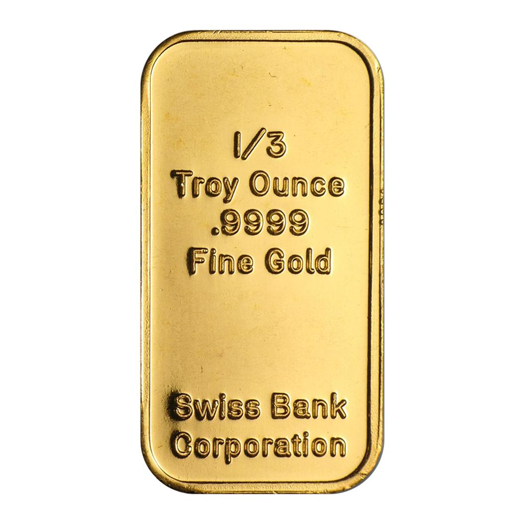 Swiss Bank Corp Third Ounce Gold Bar