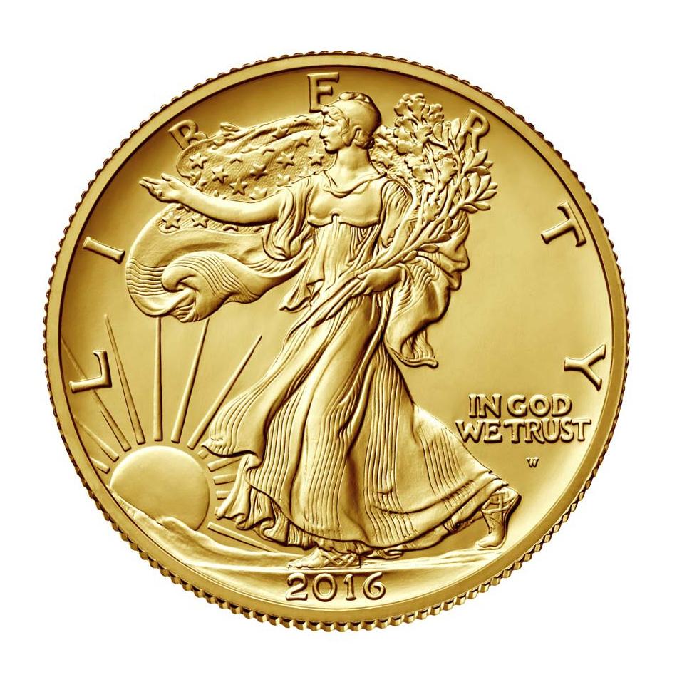 2016 W 1 2 Oz Gold Walking Liberty Centennial Coin Original Mint Packaging