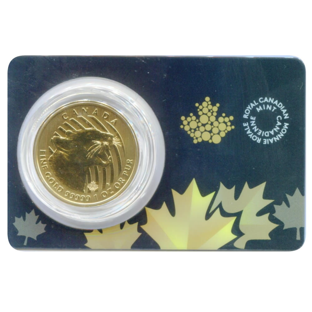 Canada 1 ounce gold cougar 2015 .99999 pure