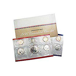 Uncirculated Mint Set 1986