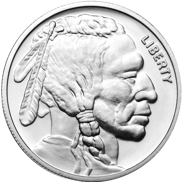 Silver Bullion 1 Oz Buffalo Round 999 Fine Golden Eagle