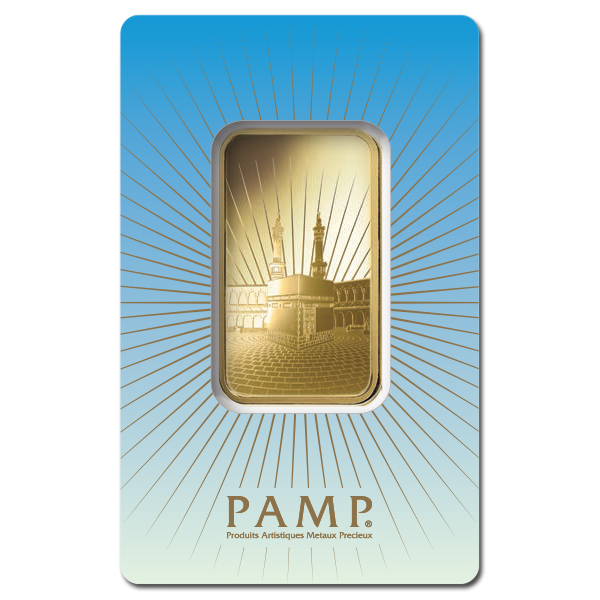 Pamp Suisse 1 Ounce Gold Bar Ka Bah Mecca Golden Eagle