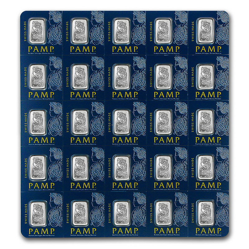 25x1 gram Platinum Bar PAMP Suisse Multigram 25