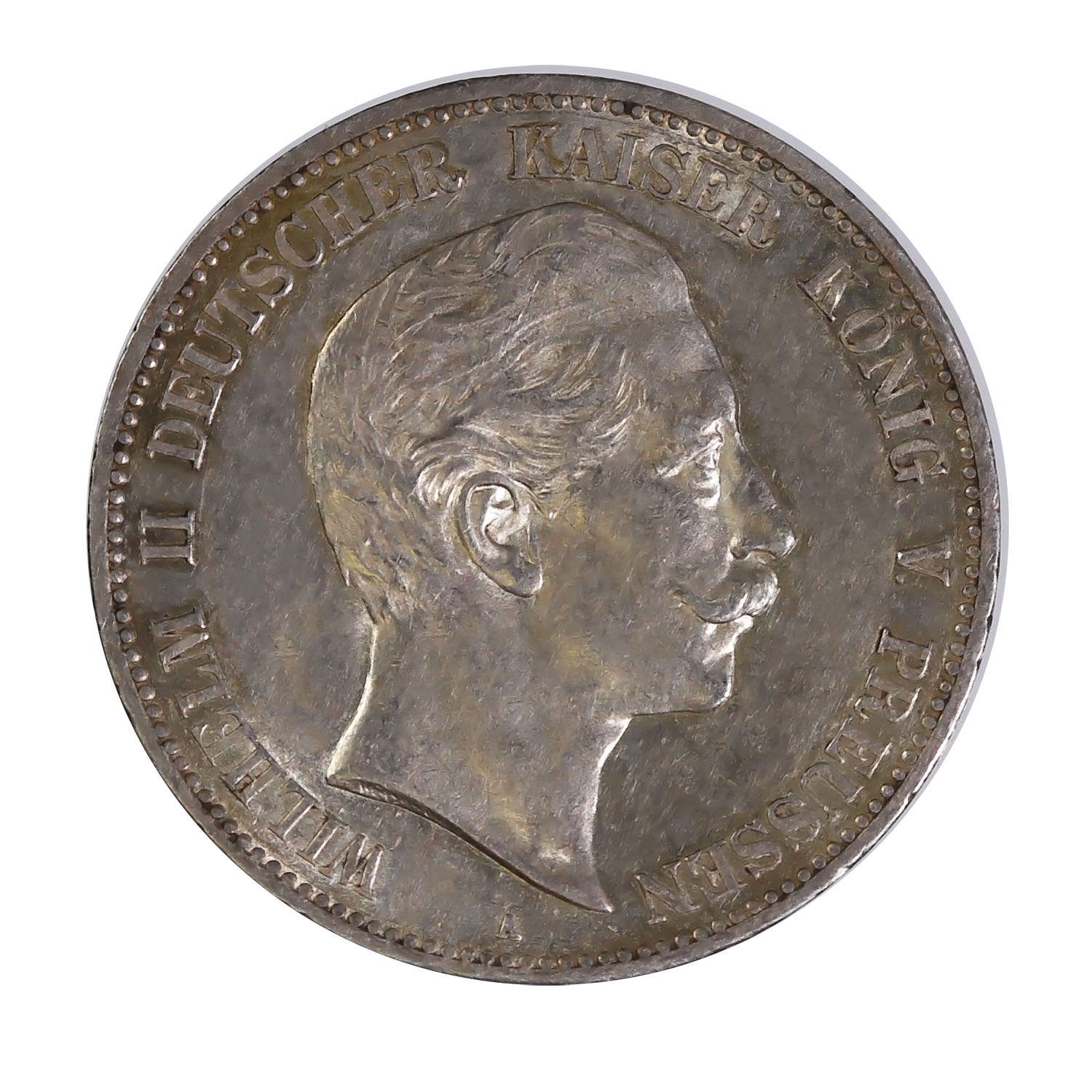 Prussia 5 mark silver 1891-1908 VF