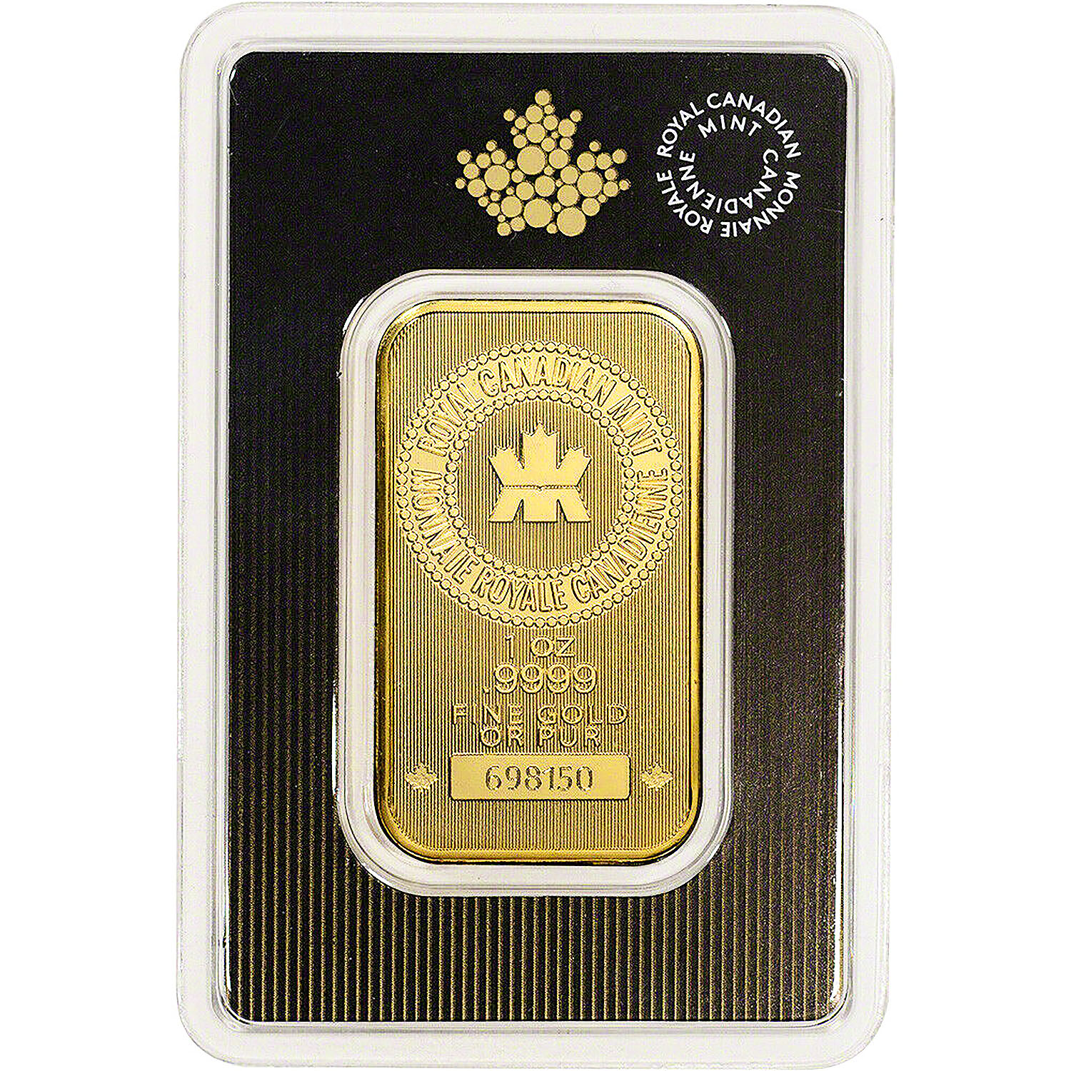 Royal Canadian Mint 1 Ounce Gold Bar .9999