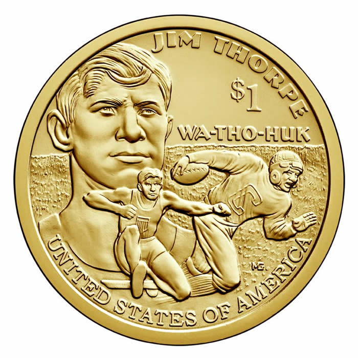 Sacagawea Dollar 2018 P Bu Golden Eagle Coins