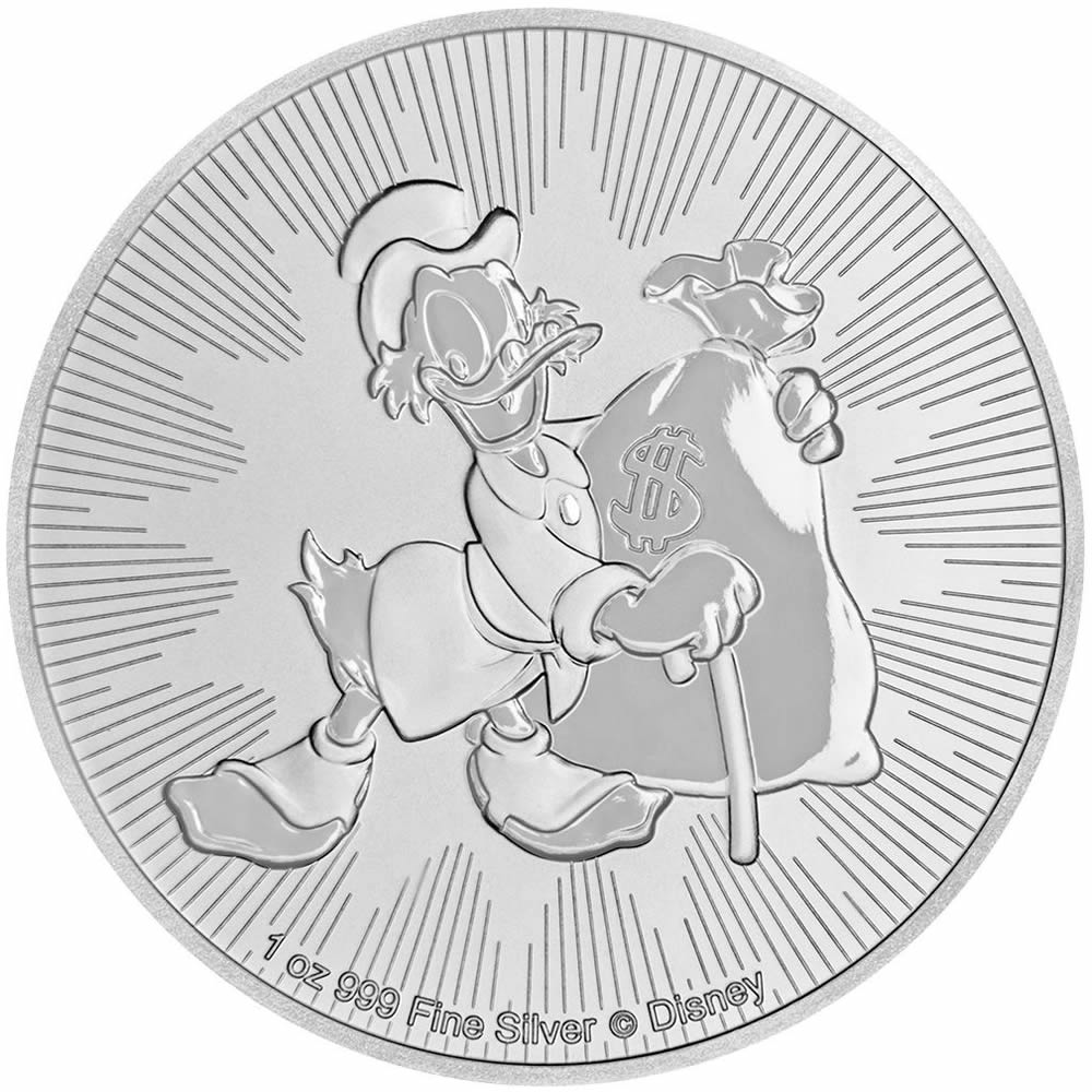 2018 1 oz Niue Disney Scrooge McDuck Silver Coin