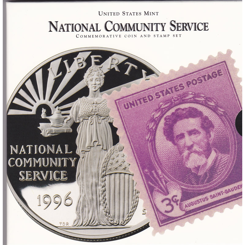 1996 Community Service Commemorative Coin and Stamp Set