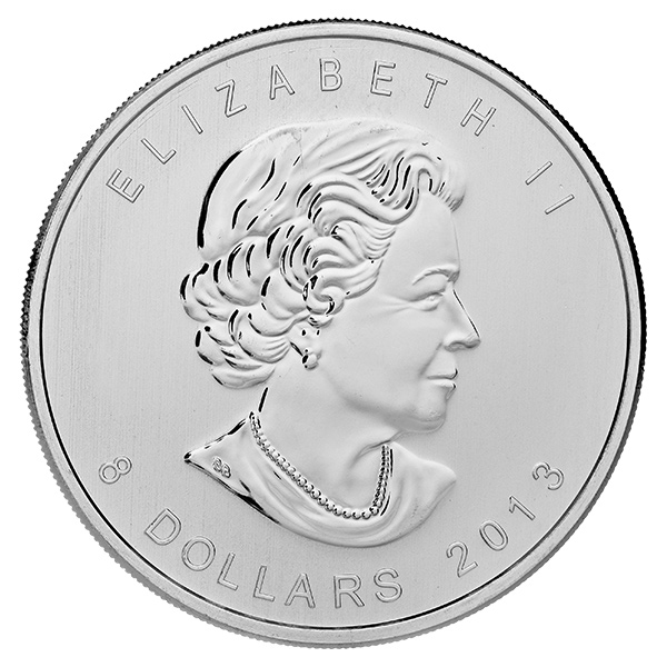 2013 Canadian Silver $8 Polar Bear 1.5 Ounces