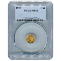 Certified US Gold $1 Liberty MS63 type 1 (Dates Our Choice) PCGS or NGC