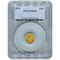 Certified US Gold $1 Liberty MS64 type 3 (Dates Our Choice) PCGS or NGC