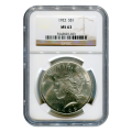 Certified Peace Silver Dollar 1922 MS63 NGC