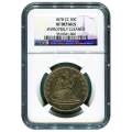 Certified Seated Liberty Half Dollar 1878-CC XF Details (Improperly Cleaned) NGC