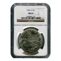 Certified Morgan Silver Dollar 1884-O MS63 NGC