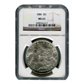 Certified Morgan Silver Dollar 1884 MS63 NGC