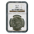 Certified Morgan Silver Dollar 1886 MS63 NGC