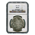 Certified Morgan Silver Dollar 1890 MS63 NGC