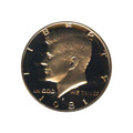 Kennedy Half Dollar 1981-S Proof Type 1