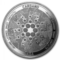 1 oz Silver Bullion Cryptocurrency Cardano Round .999 fine