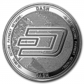 1 oz Silver Bullion Cryptocurrency Dash Round .999 fine