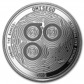 1 oz Silver Bullion Cryptocurrency OmiseGO Round .999 fine