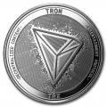 1 oz Silver Bullion Cryptocurrency Tron Round .999 fine