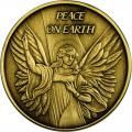 Christmas 2014 Bronze Coin BX-3 Peace On Earth Angel