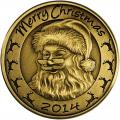 Christmas 2014 Bronze Coin BX-9 Santa with Reindeer