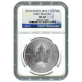 Certified 2014 Silver Maple Leaf 1 oz MS69 NGC Early Release
