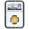 Certified Commemorative $5 Gold 2014-W Baseball Hall Of Fame MS70 NGC