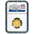 Certified Commemorative $5 Gold 2014-W Baseball Hall Of Fame PF70 NGC