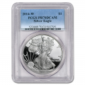 Certified Proof Silver Eagle 2014-W PR70DCAM PCGS