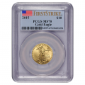 Certified American $10 Gold Eagle 2015 MS70 PCGS First Strike