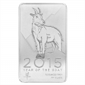 NTR Metals Silver Bar 10 oz - 2015 Goat Design