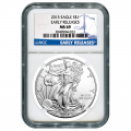 Certified Uncirculated Silver Eagle 2015 MS69 NGC Early Release