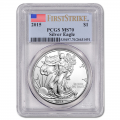 Certified Uncirculated Silver Eagle 2015 MS70 PCGS First Strike