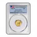 2016-W 1/10 oz Gold Mercury Dime Coin PCGS SP70