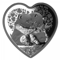China 2018 1 oz Silver Valentine Panda Heart Coin